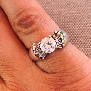 Ross-Simons Sterling CZ solitaire ring